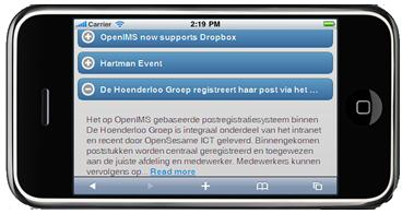 OpenIMS jQuery Internetsite